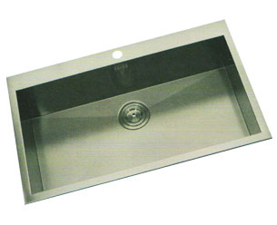 Handmade Single Bowl Sink with Faucet